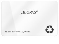 Plastikkarte 86x54mm 760µ BIOCARD