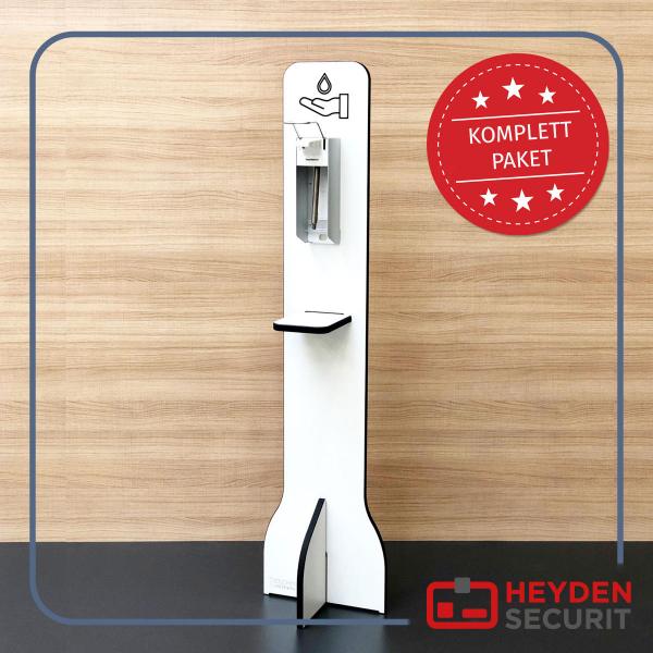 Hygiene-Ständer Komplettpaket Universal Armhebelspender HS1500T