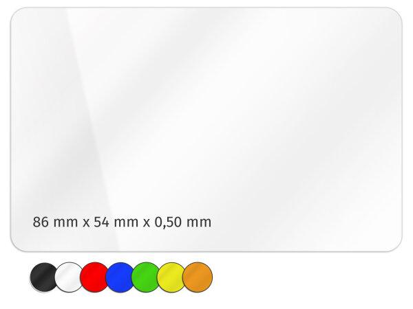 Plastikkarte 86x54mm 500µ