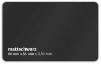 Plastikkarte 86x54mm 500µ mattschwarz