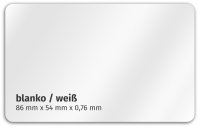 Plastikkarte 86x54mm 760µ weiß / blanko