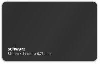 Plastikkarte 86x54mm 760µ schwarz
