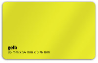 Plastikkarte 86x54mm 760µ gelb