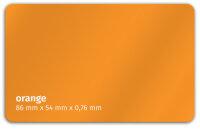 Plastikkarte 86x54mm 760µ orange