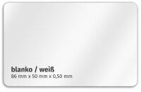 Plastikkarte 86x50mm 500µ weiß / blanko