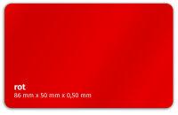 Plastikkarte 86x50mm 500µ rot