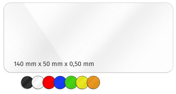 Plastikkarte 140x50mm 500µ