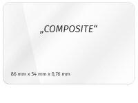 Plastikkarte 86x54mm 760µ COMPOSITE