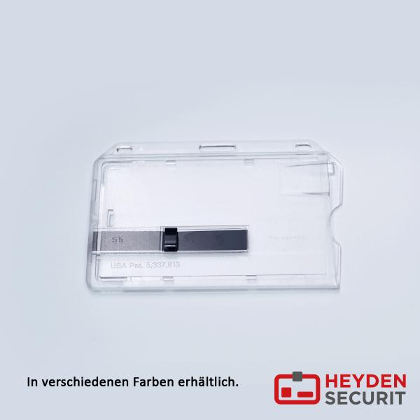 Kartenhalter Comfort PLUS 1 Schieber farbig, quer