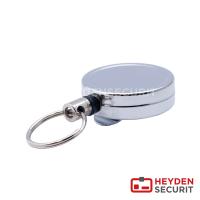 Kartenjojo 38mm chrom mit Clip & Schlüsselring